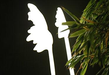 Designelement bei Nacht Detail